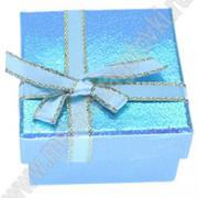 Коробочка для подарков картонная квадратная перламутровая