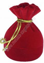 Бархатная подарочная коробочка для ювелирных украшений в виде мешочка