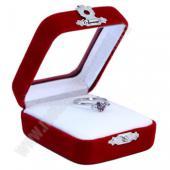 Подарочная коробочка бархатная со стеклянной крышкой для ювелирных украшений
