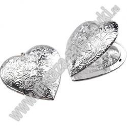 Медальон сердечко большое открывающийся 280-27