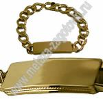 Золотистый браслет с покрытием под золото со стразами. Браслет золотистый с пластиной для гравировки